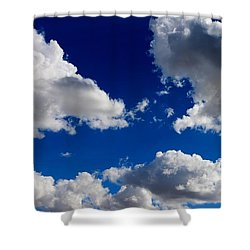 Puffy Sky - 2 Shower Curtain