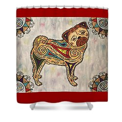 Pug- Jester Cornelius Shower Curtain