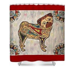 Pug- Jester Cornelius Shower Curtain