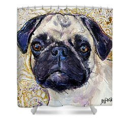Pug Mug Shower Curtain