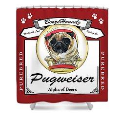 Pugweiser Beer Shower Curtain