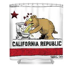 Puke Politics Shower Curtain