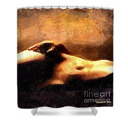 Shower Curtain featuring the painting Pulchritudinous by Elizabeth Coats