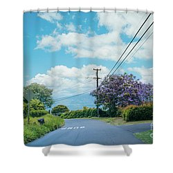Pulehuiki Road Upcountry Kula Maui Hawaii Shower Curtain by Sharon Mau