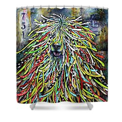 Hungarian Sheepdog Shower Curtain
