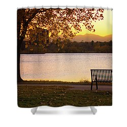 Shower Curtain featuring the photograph Pull Up A Seat by John De Bord