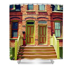 Pullman National Monument Row House Shower Curtain
