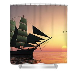 Pulse Of Life Shower Curtain by Corey Ford