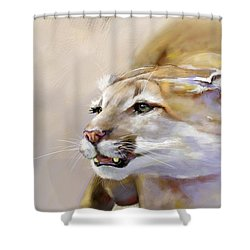 Puma Action Shower Curtain
