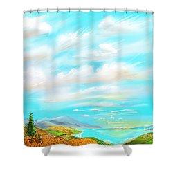 Pumkins Shower Curtain
