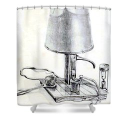 Pump Lamp Shower Curtain