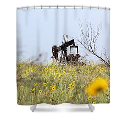 Pumpjack 122 Shower Curtain