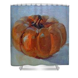 Pumpkin Alone  Shower Curtain by Donna Shortt
