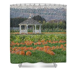 Pumpkin Field Shower Curtain