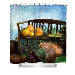 Pumpkin Harvest Respite Shower Curtain