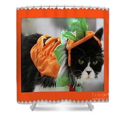 Pumpkin Humphries Shower Curtain