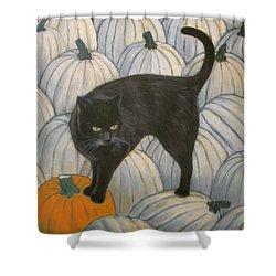 Pumpkin Keeper Shower Curtain