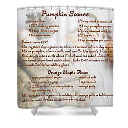 Pumpkin Scones Recipe Shower Curtain