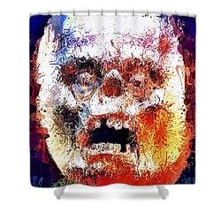 Pumpkin Scream Shower Curtain