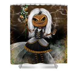 Pumpkin Spice Latte Monster Fantasy Art Shower Curtain