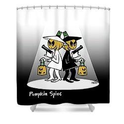 Pumpkin Spies Shower Curtain