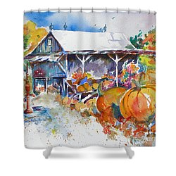 Pumpkin Time Shower Curtain