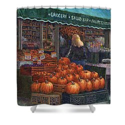 Pumpkins For Sale Shower Curtain by Susan Savad
