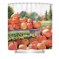 Pumpkins For Sale Shower Curtain by Vikki Bouffard