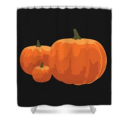 Shower Curtain featuring the painting Pumpkins by Jennifer Hotai