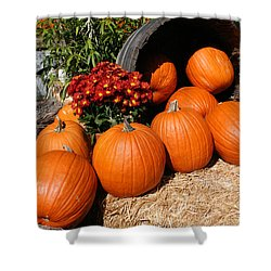 Pumpkins- Photograph By Linda Woods Shower Curtain by Linda Woods