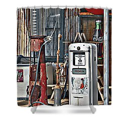 Pumps Shower Curtain by Lee Craig