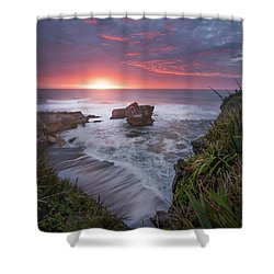 Punakaiki Shower Curtain by Racheal Christian