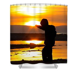 Punching The Sun Shower Curtain