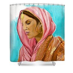 Punjabi Beauty Punjaban Shower Curtain