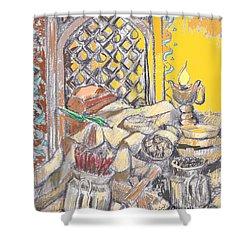 Punjabi Kitchen Rasoi Still Life Shower Curtain