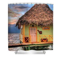 Punta Caracol Shower Curtain by Dolly Sanchez