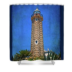 Shower Curtain featuring the photograph Punto Doncela Lighthouse by Mary Machare