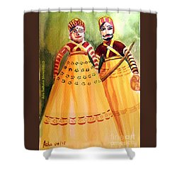 Puppets Of India Shower Curtain