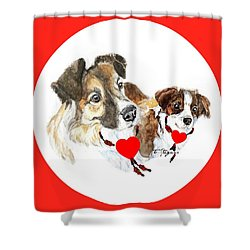 Puppy Christmas Shower Curtain