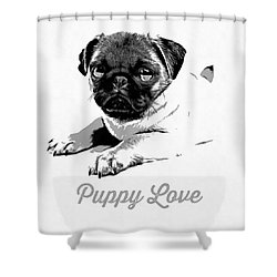 Puppy Love Shower Curtain by Edward Fielding