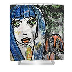 Puppy Love I Am Your Person Shower Curtain by Laurie Maves ART