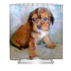 Puppy Love Shower Curtain by Wayne Pascall
