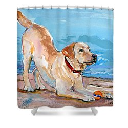 Puppy Pose Shower Curtain
