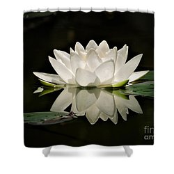 Pure And White Shower Curtain