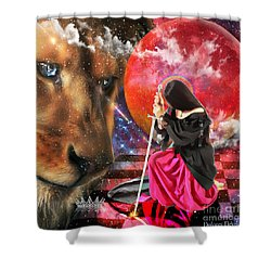 Pure At Heart Shower Curtain by Dolores Develde