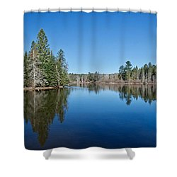 Shower Curtain featuring the photograph Pure Blue Waters 1772 by Michael Peychich