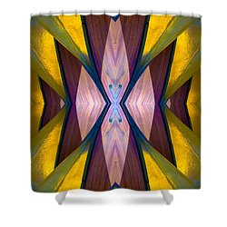 Pure Gold Lincoln Park Wood Pavilion N89 V1 Shower Curtain by Raymond Kunst