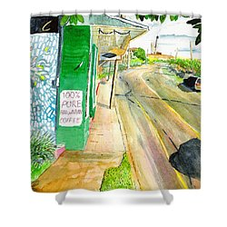 Shower Curtain featuring the painting Pure Hawaiian by Eric Samuelson