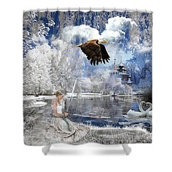 Pure Hearted Warrior Shower Curtain by Dolores Develde