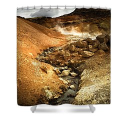 Pure Iceland - Geothermal Area Krysuvik Shower Curtain